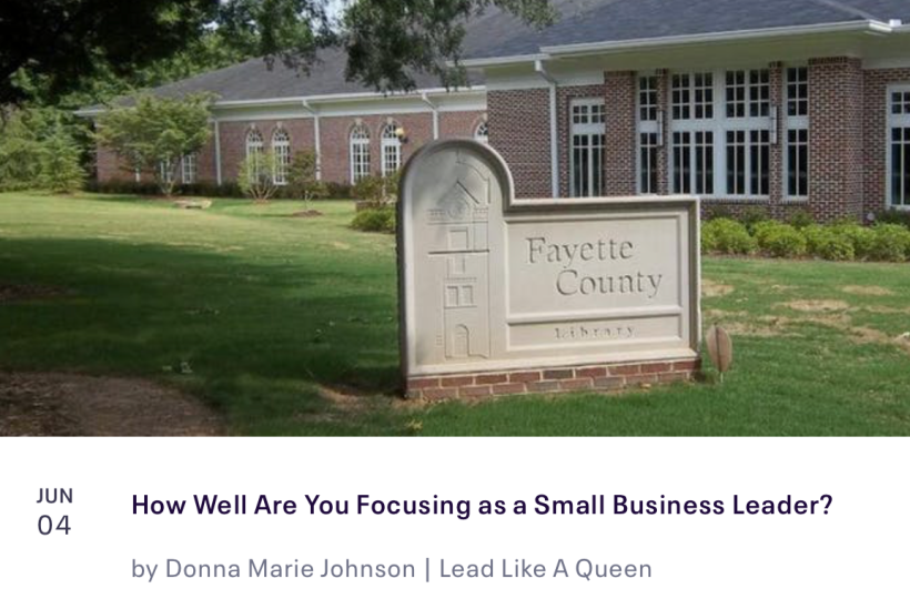 "Registration now open for ""How Well Are You Focusing as a Small Business Leader?"""